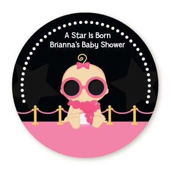 A Star Is Born Hollywood Black|Pink - Personalized Baby Shower Table Confetti Caucasian Blonde Hair