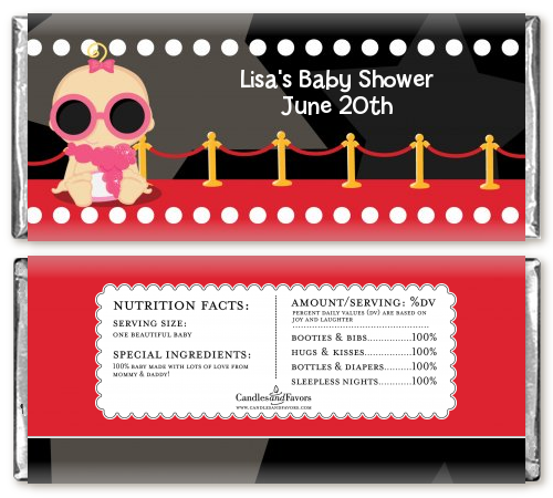 A Star Is Born Hollywood ® - Personalized Baby Shower Candy Bar Wrappers Caucasian