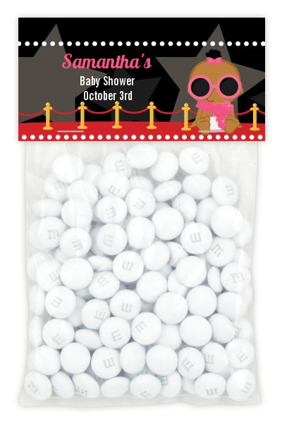 A Star Is Born Hollywood - Custom Baby Shower Treat Bag Topper Blonde Hair