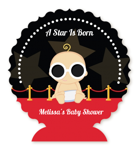 A Star Is Born Hollywood - Personalized Baby Shower Centerpiece Stand Blonde Hair
