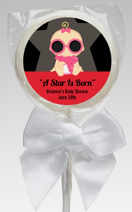 A Star Is Born Hollywood ® - Personalized Baby Shower Lollipop Favors Caucasian