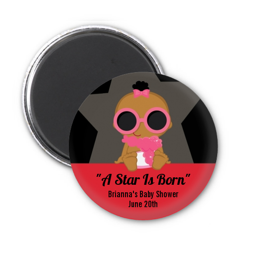 A Star Is Born Hollywood ® - Personalized Baby Shower Magnet Favors Caucasian