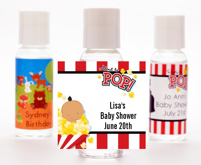 About To Pop - Personalized Baby Shower Hand Sanitizers Favors Asian