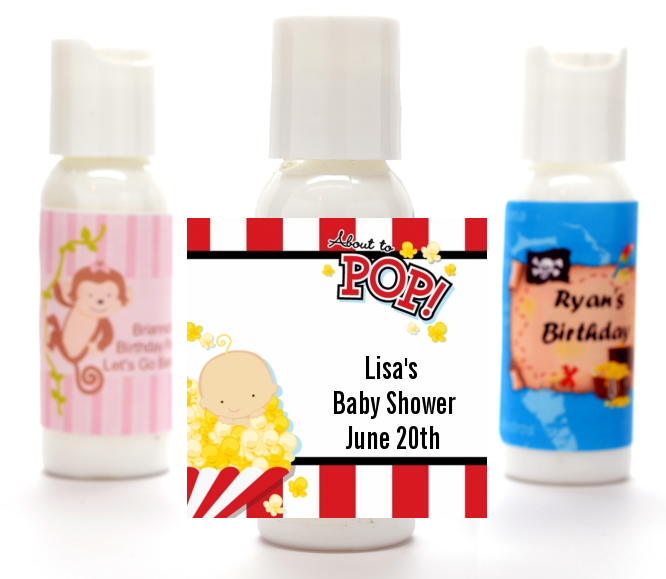 About To Pop ® - Personalized Baby Shower Lotion Favors Asian