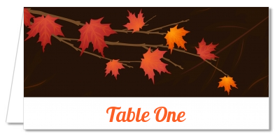 Autumn Leaves - Personalized Bridal Shower Place Cards