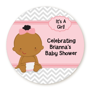 Baby Girl African American - Personalized Baby Shower Table Confetti
