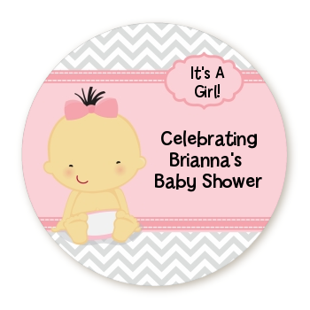 Baby Girl Caucasian - Personalized Baby Shower Table Confetti