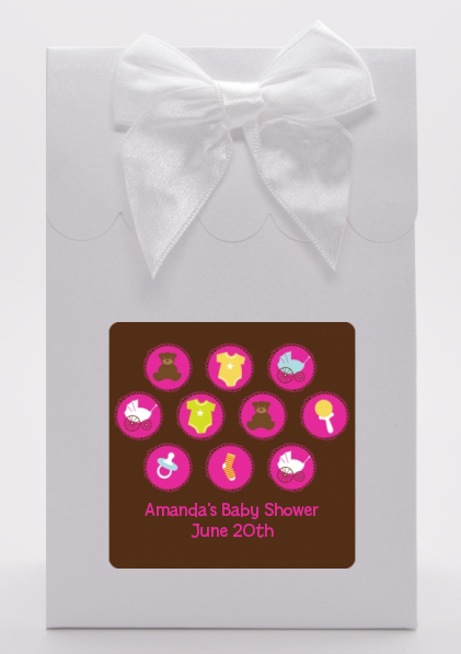 Baby Icons Pink - Baby Shower Goodie Bags