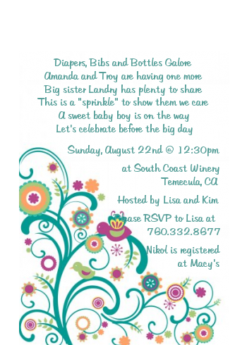 Baby Sprinkle - Baby Shower Petite Invitations