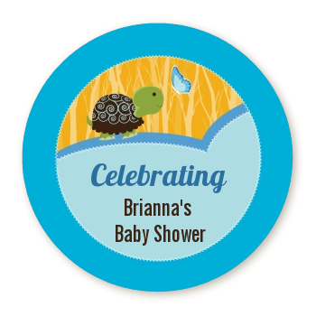Baby Turtle Blue - Personalized Baby Shower Table Confetti