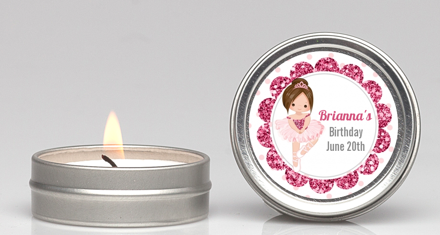 Ballerina - Birthday Party Candle Favors Black Hair