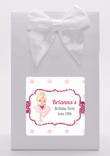 Ballerina - Birthday Party Goodie Bags Black Hair