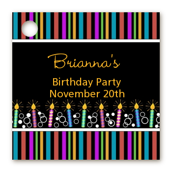 Birthday Wishes - Personalized Birthday Party Card Stock Favor Tags