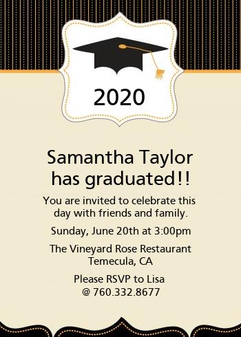 Black gold graduation party invitations candles and favors black gold graduation party invitations filmwisefo