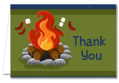 Bonfire - Birthday Party Thank You Cards