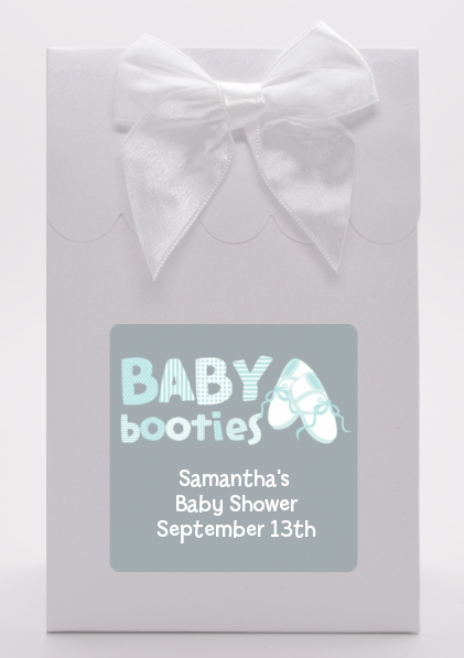 Booties Blue - Baby Shower Goodie Bags