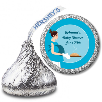 Bun in the Oven Boy - Hershey Kiss Baby Shower Sticker Labels