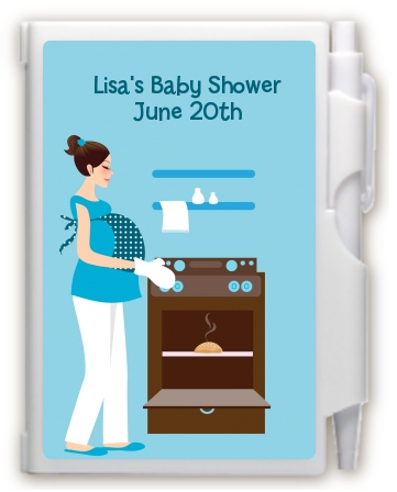 Bun in the Oven Boy - Baby Shower Personalized Notebook Favor