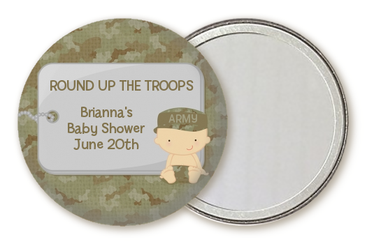Camo Military - Personalized Baby Shower Pocket Mirror Favors Caucasian