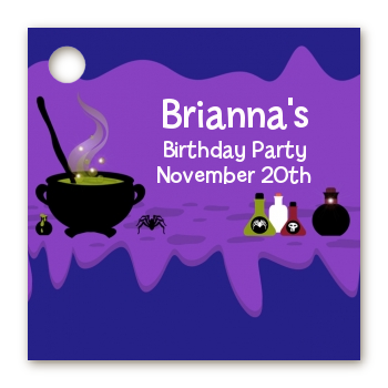 Cauldron & Potions - Personalized Birthday Party Card Stock Favor Tags