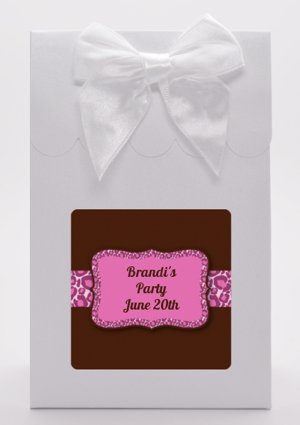 Cheetah Print Pink - Birthday Party Goodie Bags