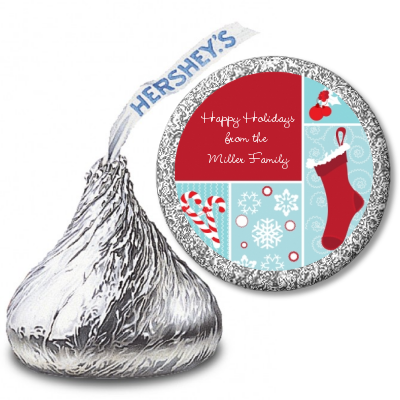 Christmas Spectacular - Hershey Kiss Christmas Sticker Labels