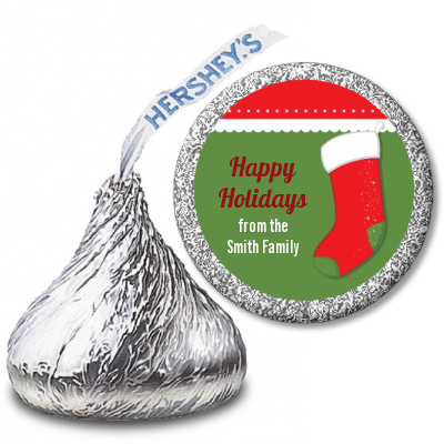 Christmas Stocking - Hershey Kiss Christmas Sticker Labels