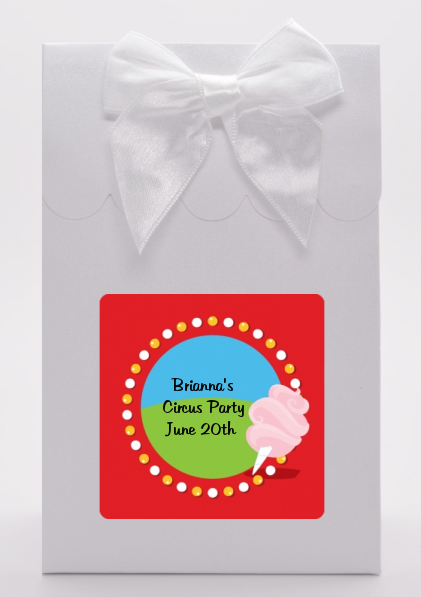 Circus Cotton Candy - Birthday Party Goodie Bags