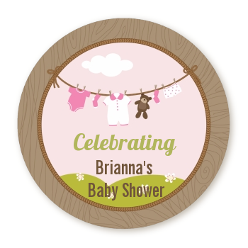 Clothesline It's A Girl - Personalized Baby Shower Table Confetti