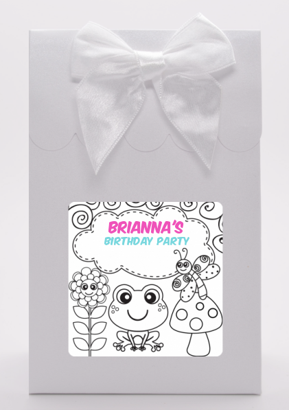Color Your Own - Spring Garden - Birthday Party Goodie Bags