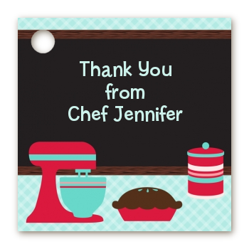 Cooking Class - Personalized Birthday Party Card Stock Favor Tags