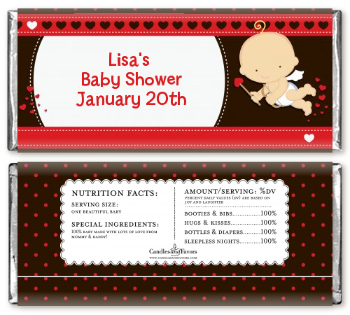 Cupid Baby Valentine S Day Baby Shower Candy Bar Wrappers Candles