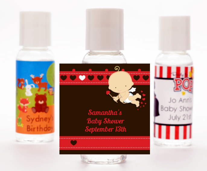 Cupid Baby Valentine S Day Baby Shower Hand Sanitizer Favors