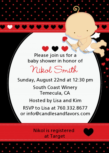 Cupid Baby Valentine S Day Baby Shower Invitations Candles And Favors
