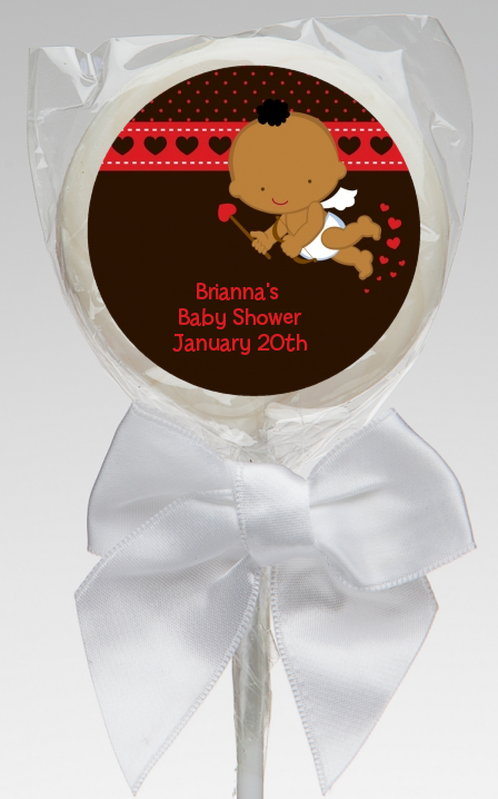 Cupid Baby Valentine's Day - Personalized Baby Shower Lollipop Favors Caucasian