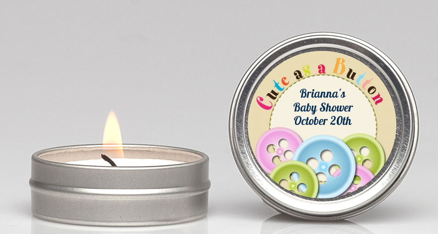 Cute As A Button Candle Favors Candles Favors