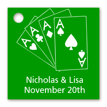 Deck of Cards - Personalized Bridal Shower Card Stock Favor Tags