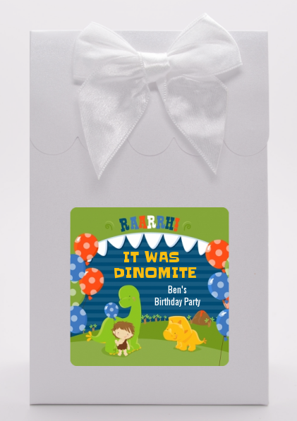 Dinosaur and Caveman - Birthday Party Goodie Bags