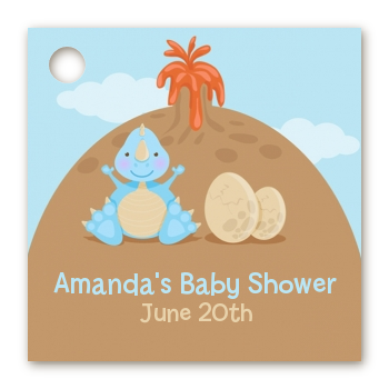 Dinosaur Baby Boy - Personalized Baby Shower Card Stock Favor Tags