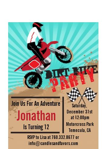 Dirt bike birthday party petite invitations filmwisefo