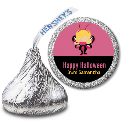 Dress Up Butterfly Costume - Hershey Kiss Halloween Sticker Labels
