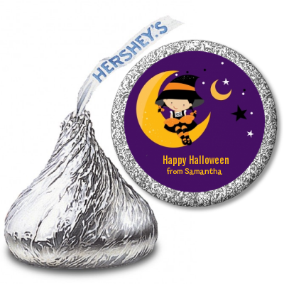 Dress Up Witch Costume - Hershey Kiss Halloween Sticker Labels