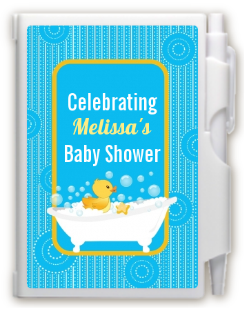 Duck - Baby Shower Personalized Notebook Favor