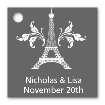 Eiffel Tower - Personalized Bridal Shower Card Stock Favor Tags