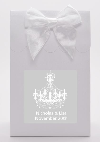 elegant chandelier bridal shower goodie bags