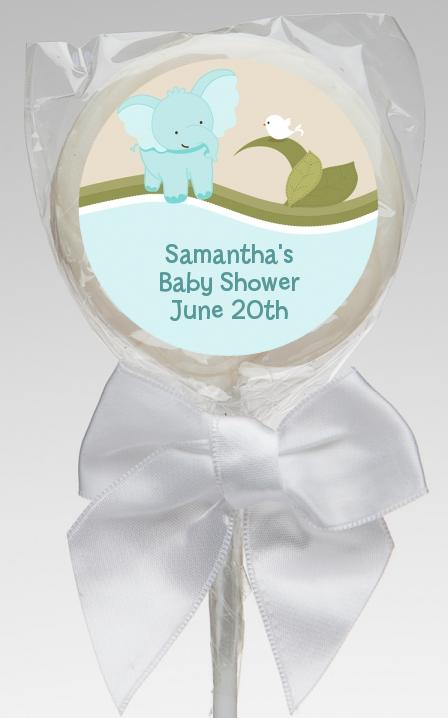Elephant Baby Blue Baby Shower Lollipop Favors Elephant Baby Blue