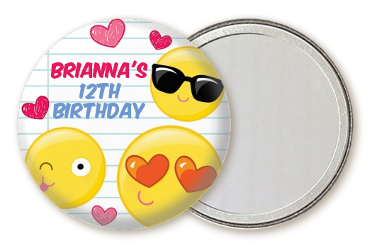 Emoji Fun Birthday Party Pocket Mirror Favors