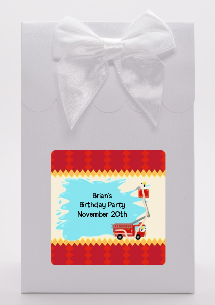 Fire Truck Birthday Party Goodie Bags
