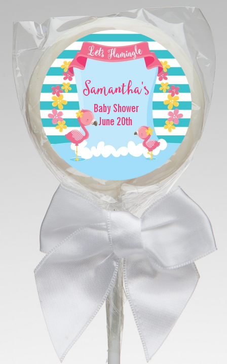 Flamingo - Personalized Baby Shower Lollipop Favors Baby Shower