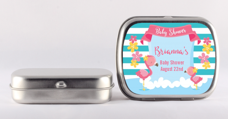Flamingo - Personalized Baby Shower Mint Tins Baby Shower
